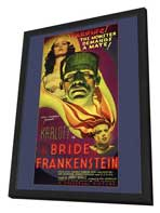 The Bride of Frankenstein - 27 x 40 Movie Poster - Style A - in Deluxe Wood Frame