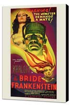The Bride of Frankenstein - 11 x 17 Movie Poster - Style A - Museum Wrapped Canvas