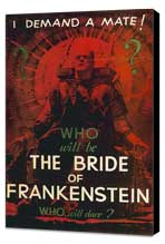 The Bride of Frankenstein - 27 x 40 Movie Poster - Style D - Museum Wrapped Canvas