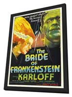 The Bride of Frankenstein - 11 x 17 Movie Poster - Style B - in Deluxe Wood Frame