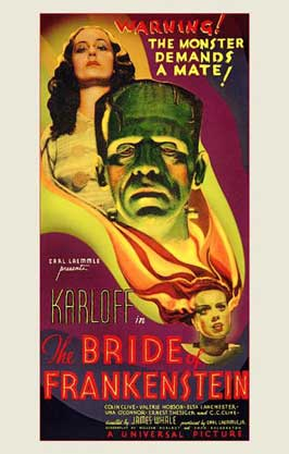 The Bride of Frankenstein - 11 x 17 Movie Poster - Style A