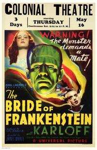 The Bride of Frankenstein - 11 x 17 Movie Poster - Style C