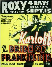 The Bride of Frankenstein - 11 x 14 Movie Poster - Style C