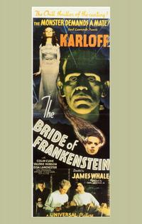 The Bride of Frankenstein - 14 x 36 Movie Poster - Insert Style B