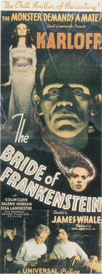 The Bride of Frankenstein - 14 x 36 Movie Poster - Insert Style A