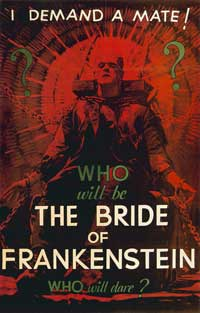 The Bride of Frankenstein - 27 x 40 Movie Poster - Style D