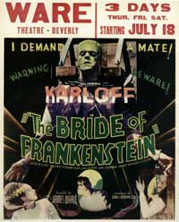 The Bride of Frankenstein - 11 x 17 Movie Poster - Style I