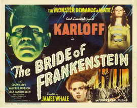 The Bride of Frankenstein - 11 x 17 Movie Poster - Style D
