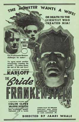 The Bride of Frankenstein - 11 x 17 Movie Poster - Style K