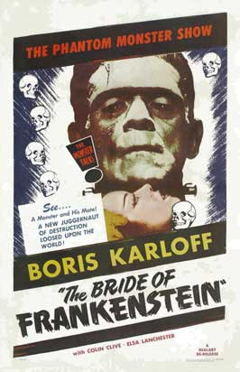 The Bride of Frankenstein - 20 x 40 Movie Poster - Style B