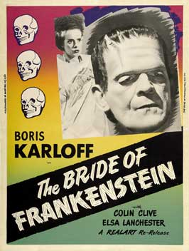 The Bride of Frankenstein - 11 x 17 Movie Poster - Style L
