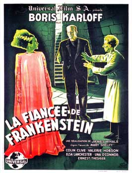 The Bride of Frankenstein - 11 x 17 Movie Poster - French Style C
