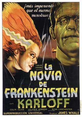 The Bride of Frankenstein - 11 x 17 Movie Poster - Spanish Style A