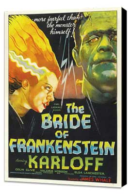 The Bride of Frankenstein - 27 x 40 Movie Poster - Style C - Museum Wrapped Canvas