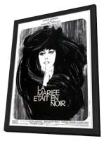 The Bride Wore Black - 27 x 40 Movie Poster - French Style B - in Deluxe Wood Frame