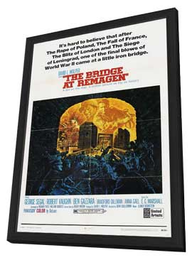 The Bridge at Remagen - 11 x 17 Movie Poster - Style A - in Deluxe Wood Frame
