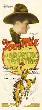 The Broncho Twister - 14 x 36 Movie Poster - Insert Style A