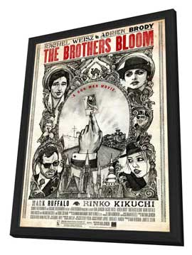 The Brothers Bloom - 27 x 40 Movie Poster - Style B - in Deluxe Wood Frame