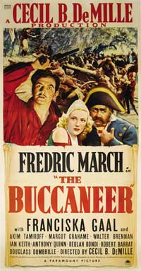 The Buccaneer - 27 x 40 Movie Poster - Style B