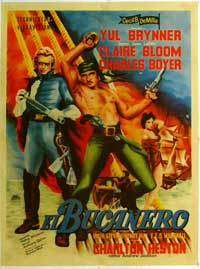 The Buccaneer - 11 x 17 Movie Poster - Spanish Style A