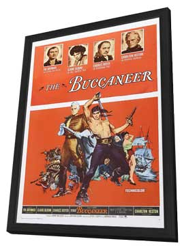 The Buccaneer - 11 x 17 Movie Poster - Style C - in Deluxe Wood Frame