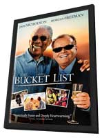 The Bucket List - 11 x 17 Movie Poster - UK Style A - in Deluxe Wood Frame