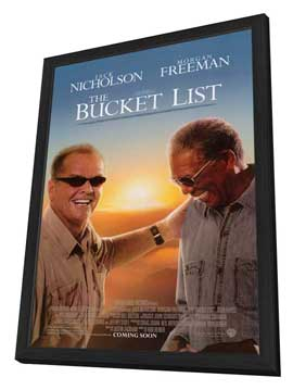 The Bucket List - 27 x 40 Movie Poster - Style A - in Deluxe Wood Frame