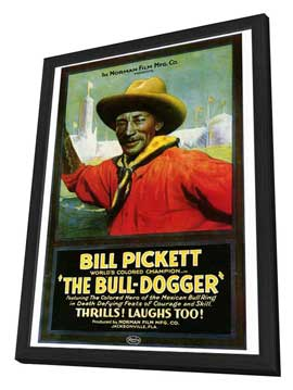 The Bull Dogger - 27 x 40 Movie Poster - Style A - in Deluxe Wood Frame
