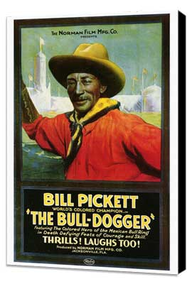 The Bull Dogger - 27 x 40 Movie Poster - Style A - Museum Wrapped Canvas