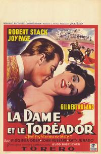 Bullfighter & the Lady - 11 x 17 Movie Poster - Belgian Style A