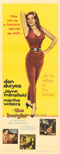 The Burglar - 14 x 36 Movie Poster - Insert Style A