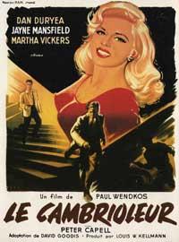 The Burglar - 11 x 17 Movie Poster - French Style B