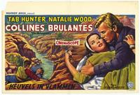 The Burning Hills - 11 x 17 Movie Poster - Belgian Style A