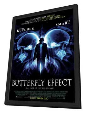 The Butterfly Effect - 27 x 40 Movie Poster - German Style A - in Deluxe Wood Frame