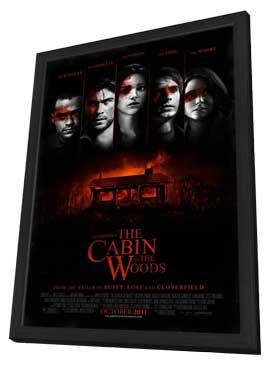 The Cabin in the Woods - 11 x 17 Movie Poster - Style A - in Deluxe Wood Frame