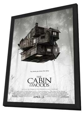 The Cabin in the Woods - 27 x 40 Movie Poster - Style A - in Deluxe Wood Frame