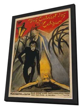 The Cabinet of Dr. Caligari - 27 x 40 Movie Poster - Italian Style B - in Deluxe Wood Frame