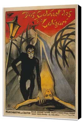 The Cabinet of Dr. Caligari - 27 x 40 Movie Poster - Italian Style B - Museum Wrapped Canvas