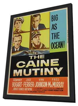 The Caine Mutiny - 11 x 17 Movie Poster - Style F - in Deluxe Wood Frame