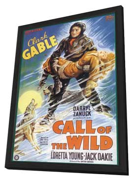 Call of the Wild, The - 11 x 17 Movie Poster - Style A - in Deluxe Wood Frame