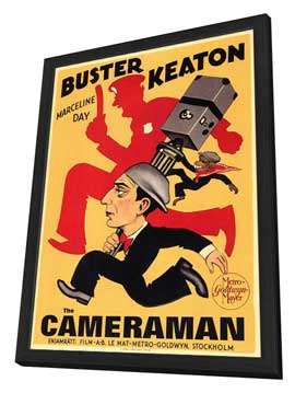 The Cameraman - 11 x 17 Poster - Foreign - Style A - in Deluxe Wood Frame