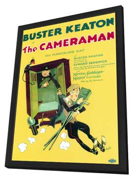 The Cameraman - 27 x 40 Movie Poster - Style A - in Deluxe Wood Frame