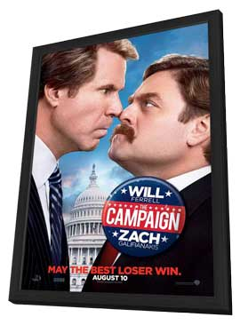 The Campaign - 11 x 17 Movie Poster - Style A - in Deluxe Wood Frame