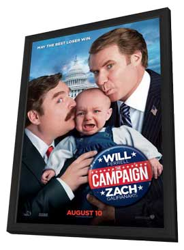 The Campaign - 27 x 40 Movie Poster - Style B - in Deluxe Wood Frame