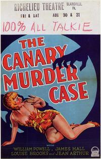 The Canary Murder Case - 11 x 17 Movie Poster - Style C