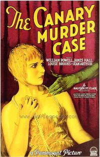 The Canary Murder Case - 43 x 62 Movie Poster - Bus Shelter Style A