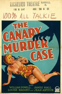 The Canary Murder Case - 27 x 40 Movie Poster - Style B