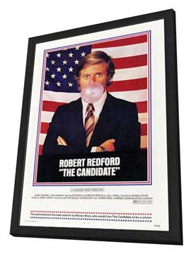 The Candidate - 27 x 40 Movie Poster - Style A - in Deluxe Wood Frame