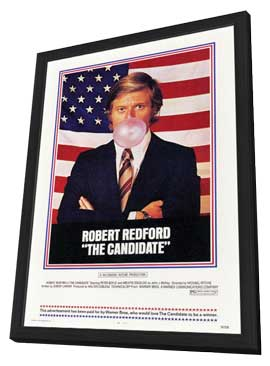 The Candidate - 11 x 17 Movie Poster - Style A - in Deluxe Wood Frame