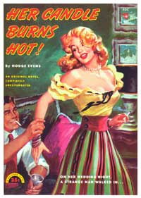 The Candle Burns Hot - 11 x 17 Retro Book Cover Poster